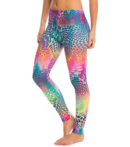 Rainbow Leopard Eco Yoga Leggings by Om Shanti Clothing-featured_image