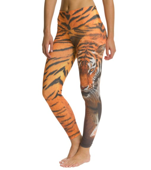 Om Shanti Clothing Tiger Half Skin Yoga Leggings